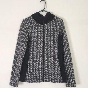 Eider gray black sweatshirt hood jacket pocket 12